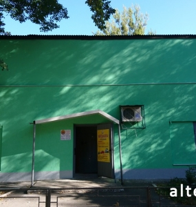 Photo insulation of the facade of the house Driving schools on the street. Pushkin in Poltava by employees of the construction company Alteza-3.