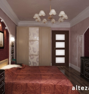 Photo of the exclusive interior design of the bedroom inside the house, Alteza.