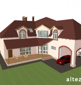 Photo of an exclusive design project of a house outside, built in with. Mountain, Alteza-2.
