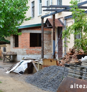 Photos of the capital construction of the extension to the residential building on the street. Kozak in Poltava by the builders of Alteza-12.