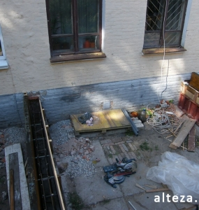 Photos of the capital construction of the extension to the residential building on the street. Kozak in Poltava by the builders of Alteza-13.
