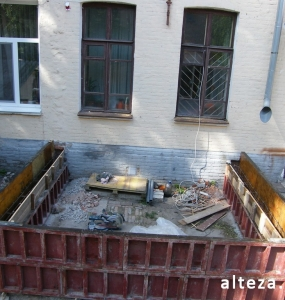 Photos of the capital construction of the extension to the residential building on the street. Kozak in Poltava by the builders of Alteza-14.