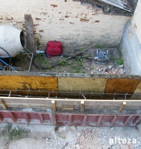 Photos of the capital construction of the extension to the residential building on the street. Kozak in Poltava by the builders of Alteza-16.