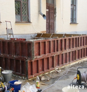 Photos of the capital construction of the extension to the residential building on the street. Kozak in Poltava by the builders of Alteza-19.