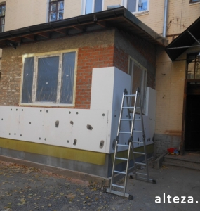 Photos of the capital construction of the extension to the residential building on the street. Kozak in Poltava by the builders of Alteza-2.