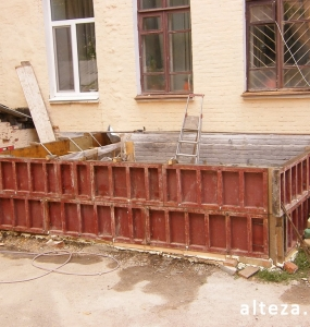 Photos of the capital construction of the extension to the residential building on the street. Kozak in Poltava by the builders of Alteza-20.