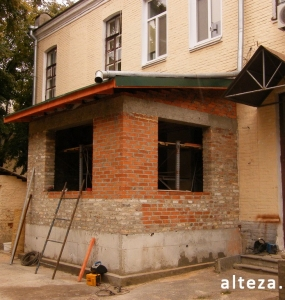 Photos of the capital construction of the extension to the residential building on the street. Kozak in Poltava by the builders of Alteza-3.