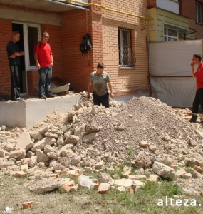 Photo of the overhaul of the office premises on the street. Heavenly Hundreds in Poltava, made by employees of the construction company Alteza-2.
