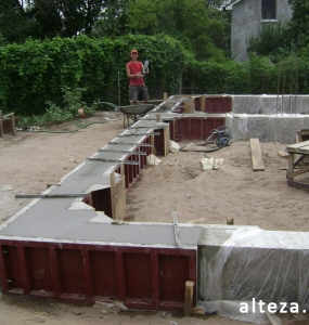 Photos of the capital construction of the house at the Motel in Poltava by the builders of the Alteza Company-4.