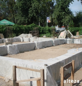 Photos of the capital construction of the house at the Motel in Poltava by the builders of the Alteza Company-5.