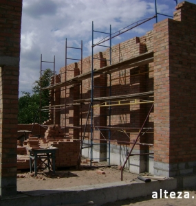 Photos of the capital construction of the house at the Motel in Poltava by the builders of the Alteza Company-6.