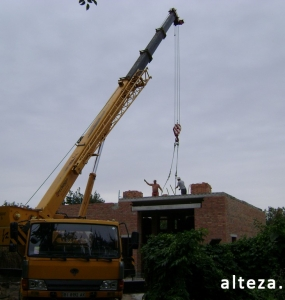 Photos of the capital construction of the house at the Motel in Poltava by the builders of the Alteza Company-7.