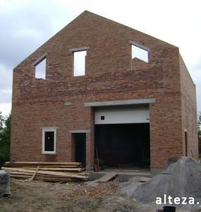 Photos of the capital construction of the house at the Motel in Poltava by the builders of the Alteza Company-8.