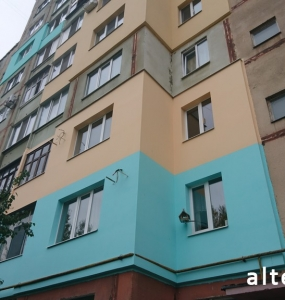 Photo of the thermal insulation of apartments in a multi-storey building by the Construction Committee of Alteza in Poltava.