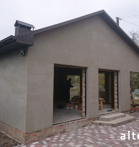 "Photo of the capital construction of a country cottage ""turnkey"" in the village. Mountain of Poltava region by builders of Alteza Company-1."