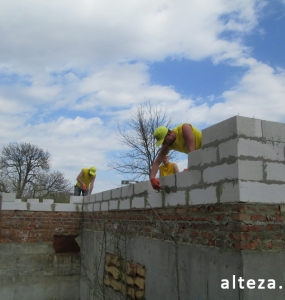 "Photo of the capital construction of a country cottage ""turnkey"" in the village. Mountain of Poltava region by builders of Alteza Company-14."