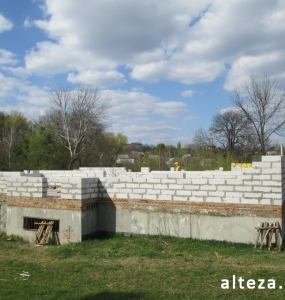 "Photo of the capital construction of a country cottage ""turnkey"" in the village. Mountain of Poltava region by builders of Alteza Company-22."