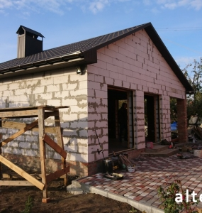 "Photo of the capital construction of a country cottage ""turnkey"" in the village. Mountain of Poltava region by builders of Alteza Company-23."