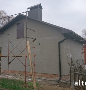 "Photo of the capital construction of a country cottage ""turnkey"" in the village. Mountain of Poltava region by builders of Alteza Company-25."