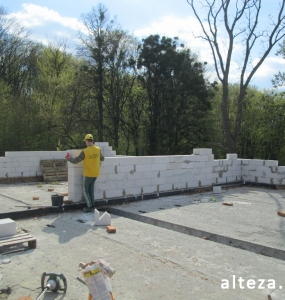 "Photo of the capital construction of a country cottage ""turnkey"" in the village. Mountain of Poltava region by builders of Alteza Company-6."