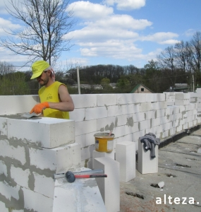 "Photo of the capital construction of a country cottage ""turnkey"" in the village. Mountain of Poltava region by builders of Alteza Company-7."