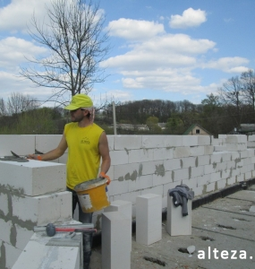 "Photo of the capital construction of a country cottage ""turnkey"" in the village. Mountain of Poltava region by builders of Alteza Company-8."