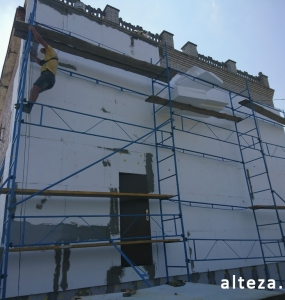 Photo of the cottage insulation outside in with. Shcherbani Poltava region employees of the construction company Alteza-3.