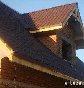 Photo of the capital construction of an apartment house in the village. Vatachkov Poltava region builders Alteza-1.
