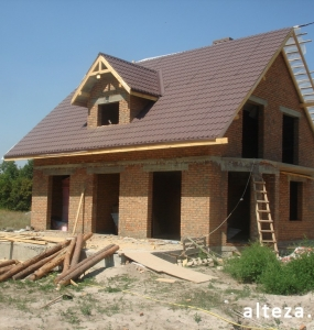 Photo of the capital construction of an apartment house in the village. Vatachkov Poltava region builders Alteza-2.