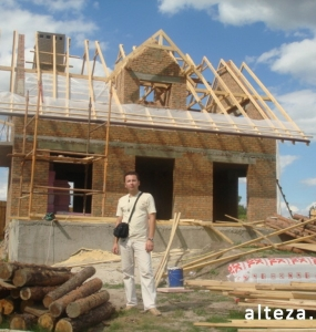 Photo of the capital construction of an apartment house in the village. Vatachkov Poltava region builders Alteza-3.