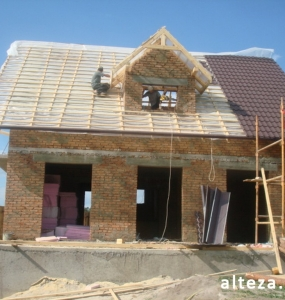 Photo of the capital construction of an apartment house in the village. Vatachkov Poltava region builders Alteza-4.