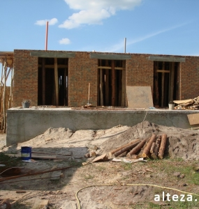 Photo of the capital construction of an apartment house in the village. Vatachkov Poltava region builders Alteza-5.