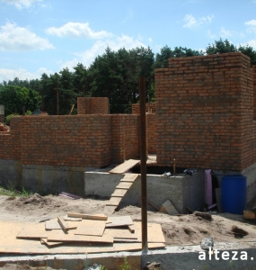 Photo of the capital construction of an apartment house in the village. Vatachkov Poltava region builders Alteza-6.