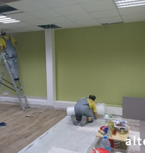 Photo of the overhaul of the office premises on the street. Kotlyarevsky in Poltava from the construction company Alteza-1.