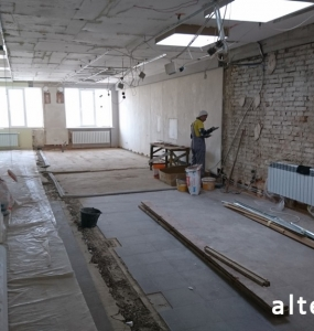 Photo of the overhaul of the office premises on the street. Kotlyarevsky in Poltava from the construction company Alteza-5.