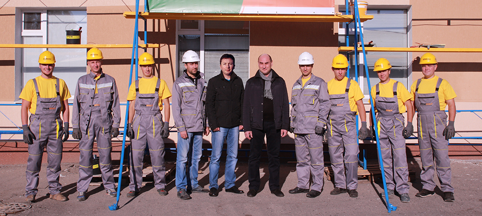 Photo of employees of the construction company Alteza.